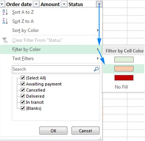 how to filter by color in excel 28 images how to