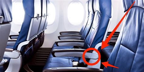 recline seat on plane there s a secret button on your plane seat for more