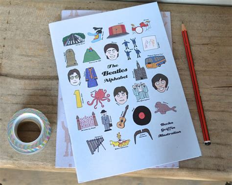 the beatles alphabet notebook set gift for by beckagriffin