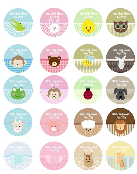 sticker label template baby shower stickers