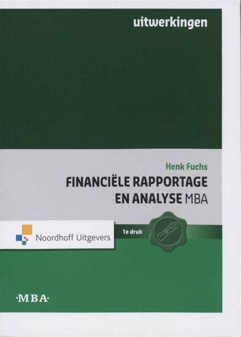 Mba Nederlandse Associatie by Bol Financiele Rapportage En Analyse