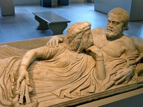 Sarcophagus Of Reclining by Marble Sarcophagus Lid With Reclining Metropolitan