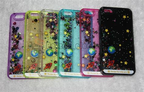 Water Gliteer Hello Iphone 5g 5s 3d starry sky space ship glitter flowing water liquid for iphone 6 6 plus