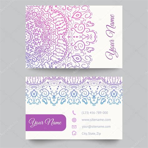 fashion business card template business card template purple and white fashion