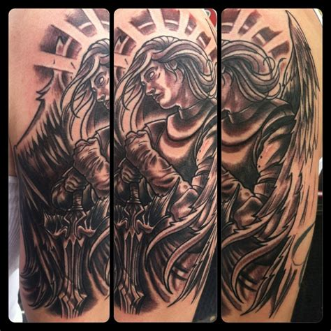 angel gabriel tattoo gabriel half sleeve tattoos half
