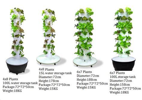 vertical column hydroponic aeroponic planting system