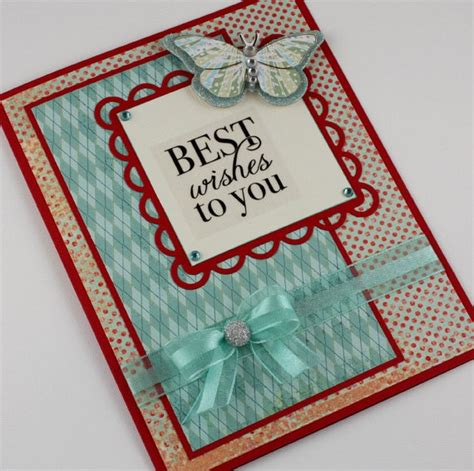 Best Handmade Cards - best wishes card handmade card aqua and