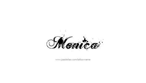 monica tattoos name designs