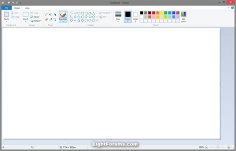 paint white background change default size in windows