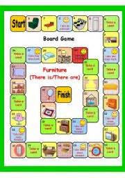 furniture there is there are board game