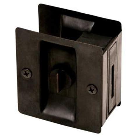Home Depot Pocket Door Hardware by Design House Rubbed Bronze Pocket Door Privacy
