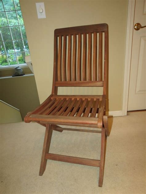 vintage folding wooden chairs vintage solid teak wooden folding chair with slat seat