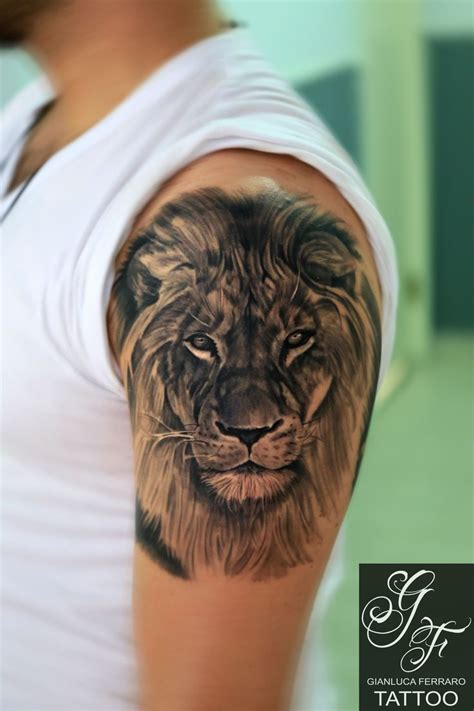lion face tattoo best 25 ideas on shoulder