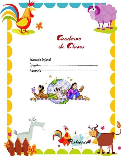 imagenes foto escolar caratulas color cuadernos escolares infantiles dibujos
