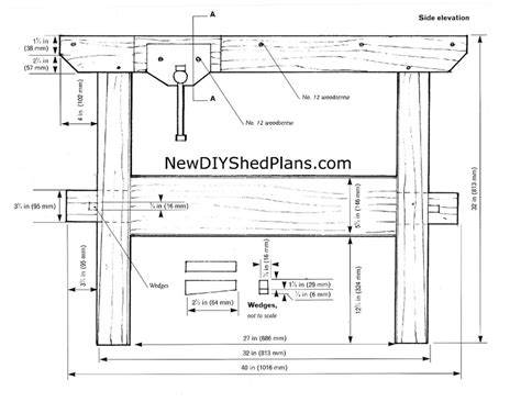 free blueprints small woodworking bench plans woodideas