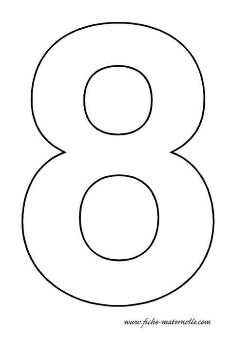 number template image gallery number 8 crafts
