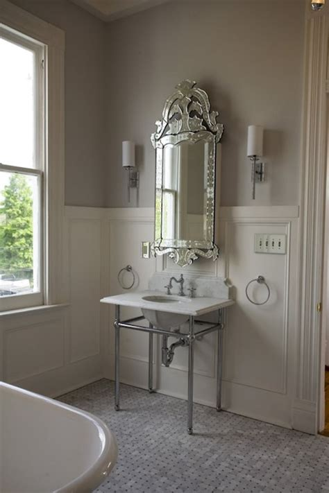 venetian mirror bathroom bathroom wainscoting french bathroom bockman and