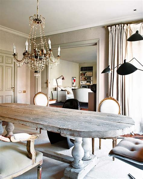 gustavian table greaige weathered rustic decorating