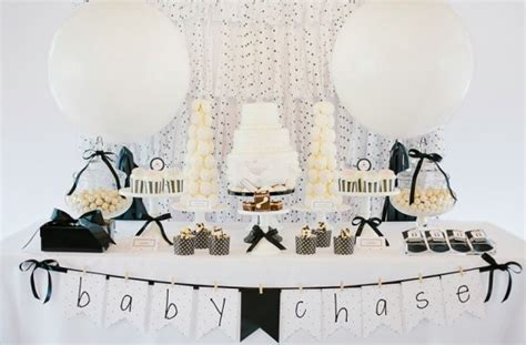 Black And White Themed Baby Shower by Modern Black And White Baby Shower Baby Shower Ideas