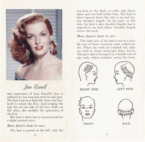 the fifties jane russell beguiling hollywood 1861 best vintage hair howtos images on pinterest
