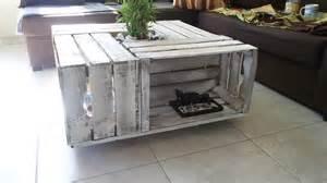 table basse en caisse de bois c 233 rus 233 es meubles et