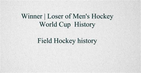 the field is the world a history of the canton mission 1929ã 1949 of the churches of books list of s hockey world cup winners field hockey