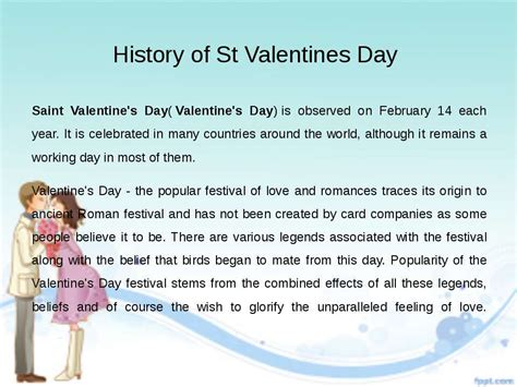 history of valentines days quot s day
