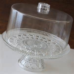 How To Make A Pedestal Cake Stand Cake Stand Cut Glass Cake Plate Plastic Cover Birthday Shabby