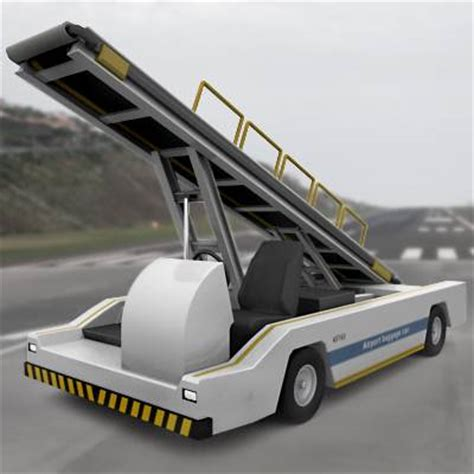 Airport Cars by 3d Model Airport Baggage Transporter 69 95 Buy