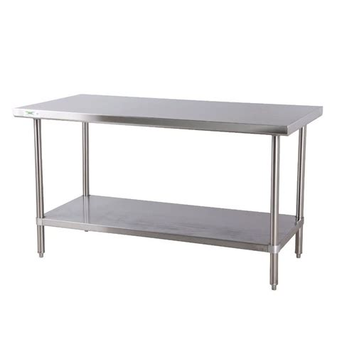 stainless steel shop desk regency 16 gauge all stainless steel commercial work table