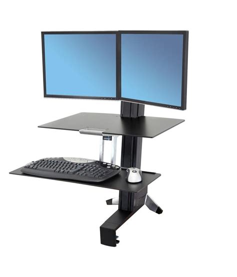 Ergotron Sit Stand Desk Standing Desk 33 349 200 Ergotron Workfit S Dual Monitor With Worksurface