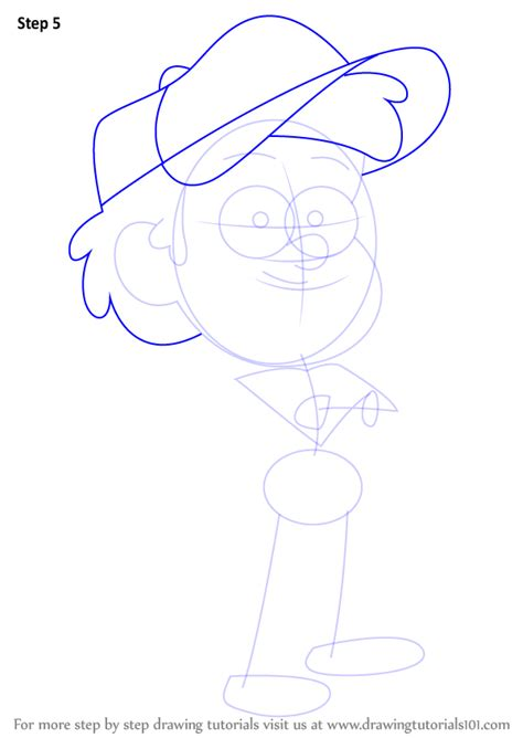 How To Draw Dipper Pines Gravity Falls