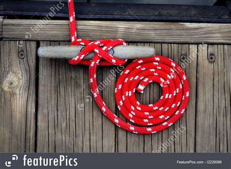 boating red boat rope stock photo   featurepics