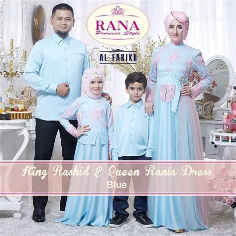 Abaya Anak Bordiran Free Pashmina rania rashid blue baju muslim gamis modern