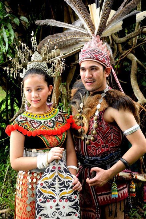 details about dayak girl photo costume jewels borneo ngepan indu laki iban sea dayak dyak of borneo men