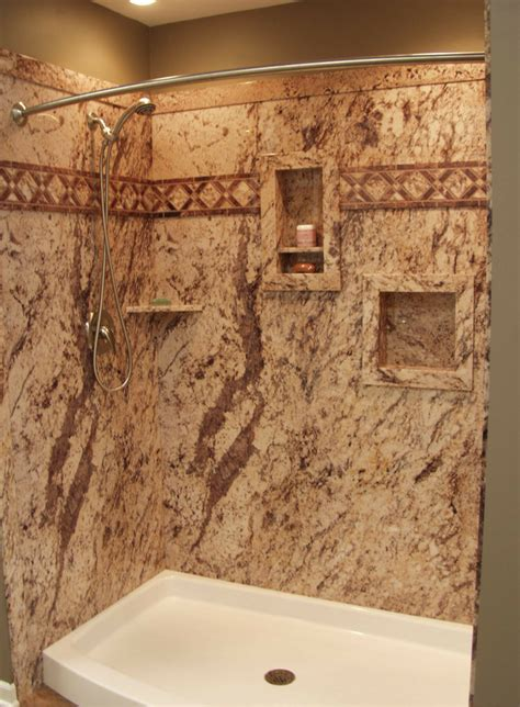 Simulated Marble Shower Walls by 8 Part Checklist For A Diy Shower Kit Nationwide Supply