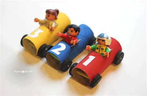 Toilet Paper Roll Car Craft - toilet paper roll race cars by repeat crafter me bonbon