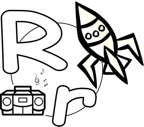 printable pictures with letter r free coloring pages of letter r word find