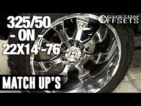 custom offsets match up: 325/50 on 22x14  76 youtube