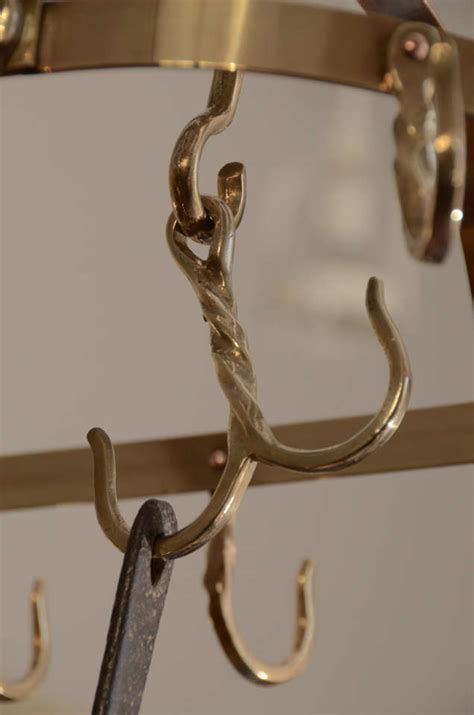Decorative Pot Rack by Brass Pot Rack At 1stdibs