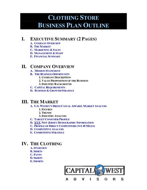 clothing line business plan template free clothing line business plan template free free business
