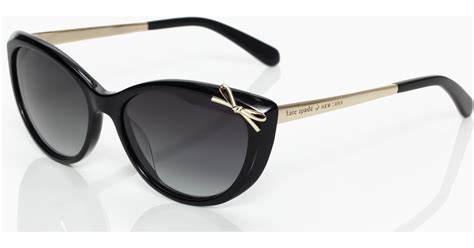 Kate Spade Devaney Black lyst kate spade new york livia 2 sunglasses in black