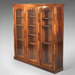 Antique Bookcase by Antique Bookcase Regency Rosewood Glazed Cabinet