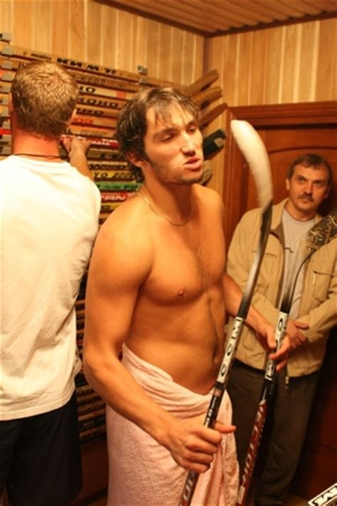 alexander ovechkin shirtless in dressing room hockeygods