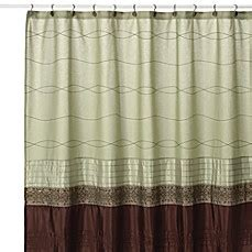 kas curtains kas romana green fabric shower curtain bed bath beyond