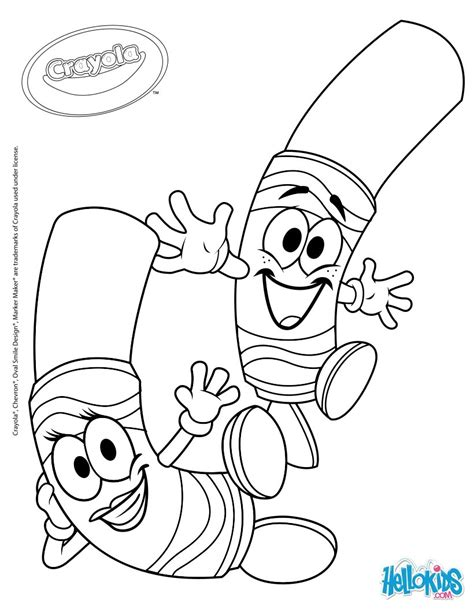crayola 5 coloring pages hellokids com