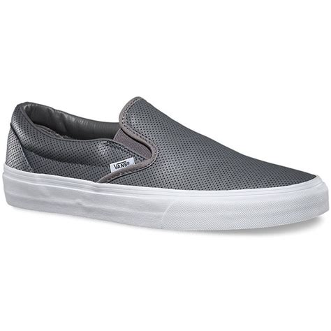 vans classic slip on leather shoes s evo outlet