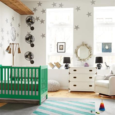 Green Baby Cribs Modern Wooden Carousel Baby Crib Green The Land Of Nod