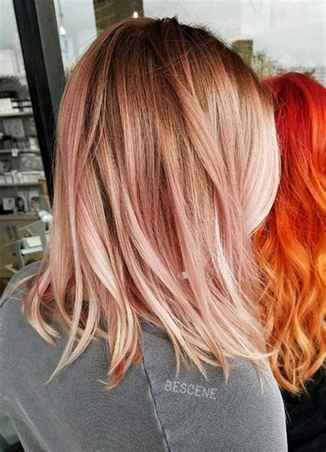 what hair color is good for a 65 yr old woan with roscea 65 rose gold hair color ideas for 2017 rose gold hair