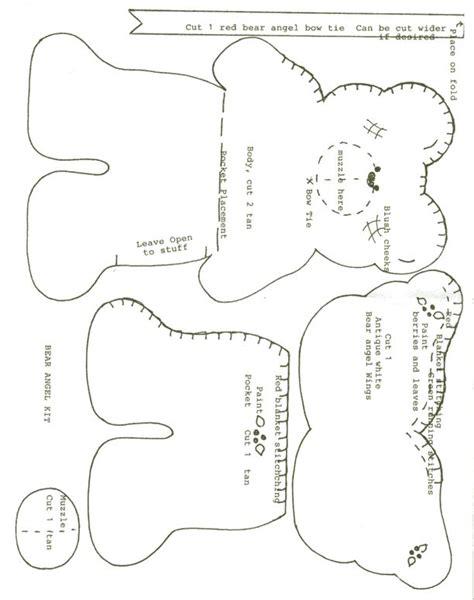 pattern felt bear teddy bear pattern craft ideas pinterest felt angel